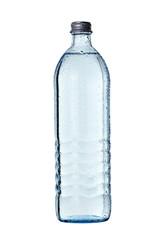 water in glass bottle drink