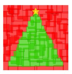 Albero Natale con quadrati