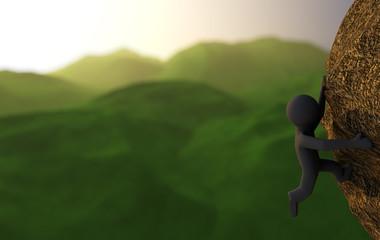 Abstract climbing
