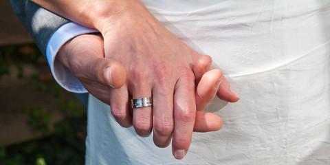 Brautpaar Hände Mit Trauring