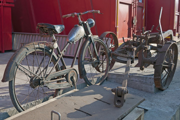 old plough and bike
