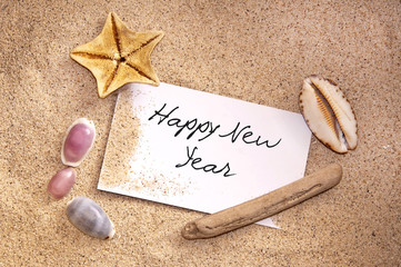 Happy new year, message from the beach