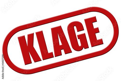 Stempel rot rel KLAGE\