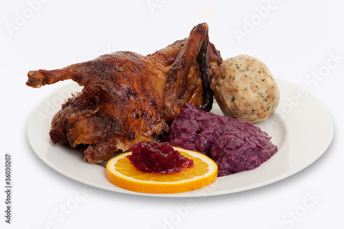 Ente Weihnachten.Gebratene Ente Zu Weihnachten Stock Photo And Royalty Free