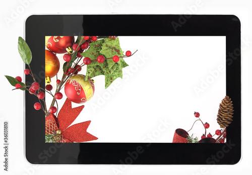 Decorative Christmas digital tablet frame\