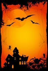halloween background or invitation