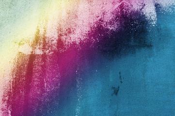 Raufaserwand mit Farbverlauf