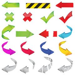 Large set of different arrows illustration