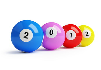 new year's 2012 bingo balls