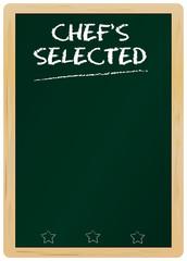 menu on blank blackboard, free copy space