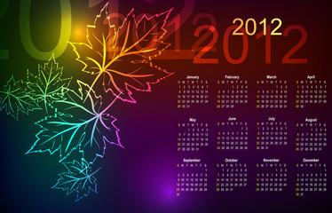 Maple autumn calendar 2012