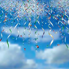confetti in clouds