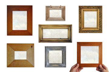 Picture frame selection with papyrus inserts