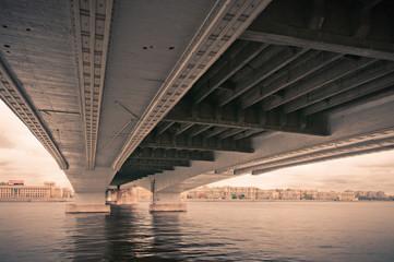 Under bridge city view