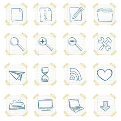 Sticker Icon Set