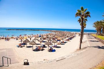 Beach of Playa de las Americas. Tenerife