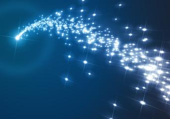 blue christmas star