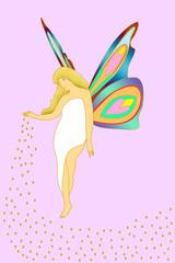 蝶の妖精 イラスト