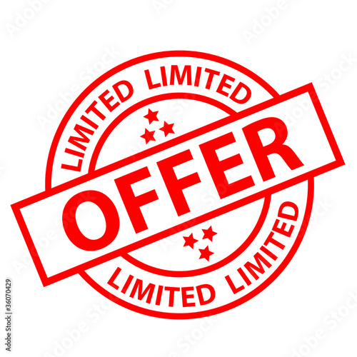 """""LIMITED OFFER"" Marketing Stamp (sale Special Offers"