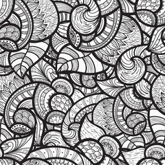 vector seamless ethnic doodle pattern