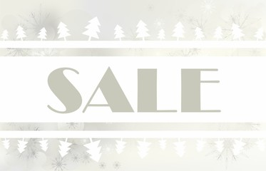 sale with abstract christmas tree