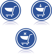 Shopping carts - Vector icons