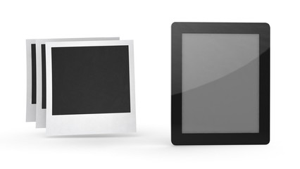tablet computer with icon