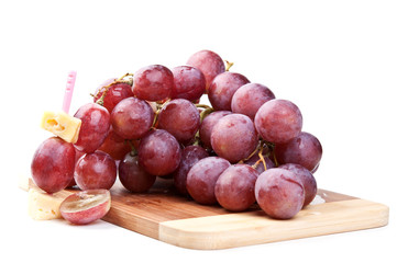 branch of red grapes