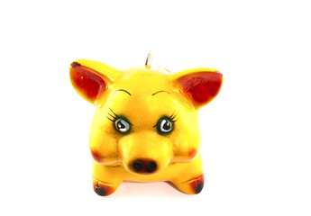 A yellow pig to save your money