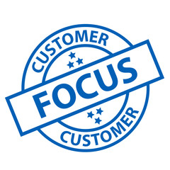 CUSTOMER FOCUS Stamp (service hotline assistance client support)