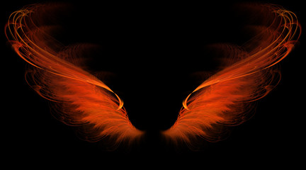 red flame wings