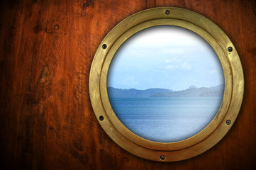 porthole with ocean view