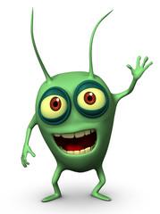 Papiers peints Doux monstres green bug
