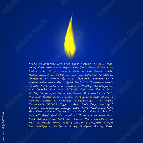 Weihnachtswünsche Kerze.Weihnachtskerze Frohe Weihnachten Blau Stock Photo And Royalty Free