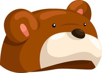 hat bear so cute isolated vector illustrator