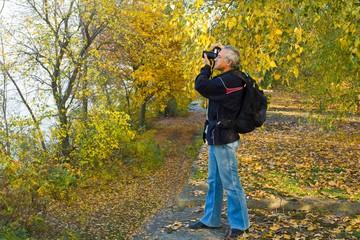 photographer shooting landscape