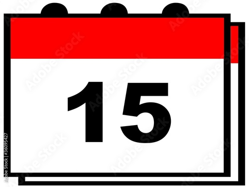 Calendario Ade.Dia 15 Del Calendario Stock Photo And Royalty Free Images