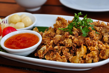 Thai style deep fried chicken