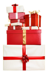 Christmas gifts isolated
