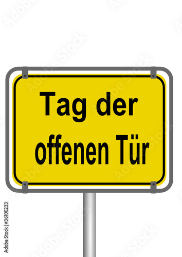 schild tag der offenen t r stockfotos und lizenzfreie vektoren auf bild 36100233. Black Bedroom Furniture Sets. Home Design Ideas