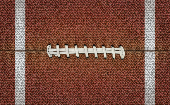 Football Texture Laces Stripes as a Flat Background