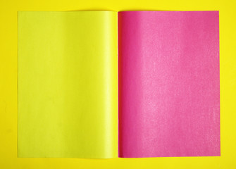 pink and yellow page