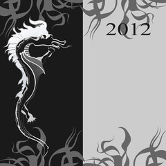 Background with a black dragon