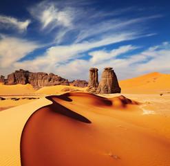 Fotorolgordijn Algerije Sahara Desert, Algeria