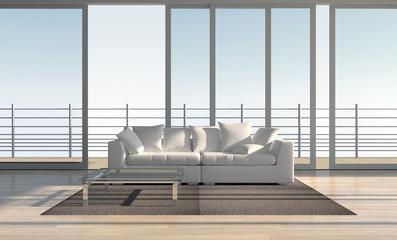 interno con divani vista sul giardino