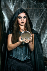 Portrait of a young witch