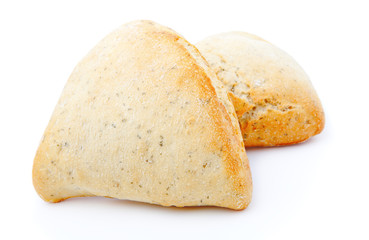 tasty bun, isolated on a white background