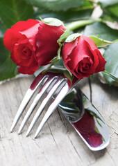 romantisches Tischgedeck