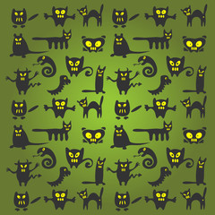 halloween monsters background
