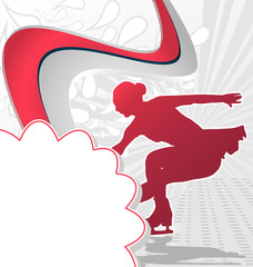 Sport Template Poster Figure Skating. Vector Illustration.